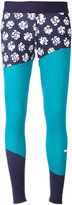 adidas by Stella McCartney Run printed tights - women - Spandex/Elastane/Recycled Polyester - M