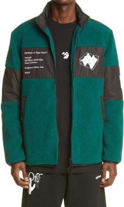 Off-White Pivot Graphic Fleece Jacket