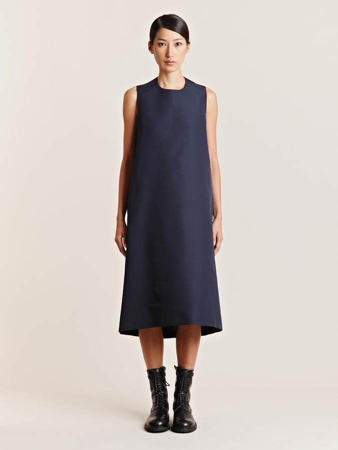 mento Women's Grosgrain Silk Front Flare Dress