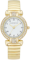 Charter Club Women's Gold-Tone Pavé Stretch Bracelet Watch 30mm, Only at Macy's
