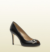 Gucci New Hollywood Leather Mid-Heel Pump