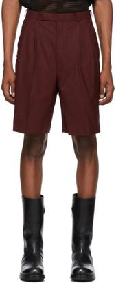 John Lawrence Sullivan Johnlawrencesullivan Orange Merino Wool Tucked Shorts