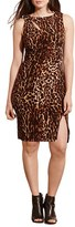 Lauren Ralph Lauren Plus Size Women's Ocelot Print Sleeveless Jersey Dress