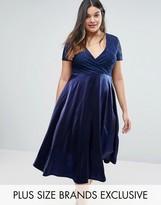 Truly You Lace Bardot Full Skirt Midi Dress