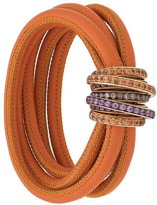 de Grisogono 18kt rose gold brown diamond, sapphire and topaz Allegra bracelet