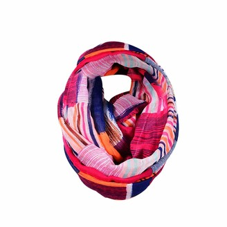 Amaone Scarf Snood Womens 180X90Cm Voile Wrap Shawl Infinity Scarfs Circle Loop Scarves(Hot Pink)