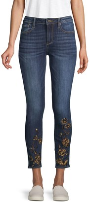 Driftwood Embroidered Floral Jeans