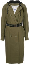 Sjyp hooded trench coat