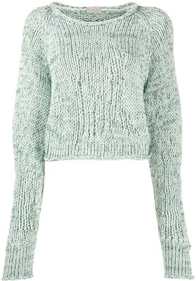 Mrz Cropped Extra-Long Sleeve Jumper