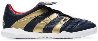 adidas navy X Zidane Predator Accelerator flat leather sneakers