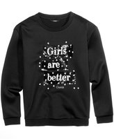 GUESS Girls Are Better Sequin Sweatshirt, Big Girls (7-16)