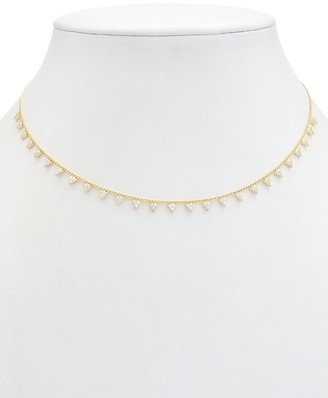 Alanna Bess Limited Collection 14K Over Silver Cz Trillions Necklace