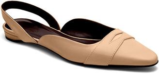 Bougeotte Leather Slingback Ballerina Flats