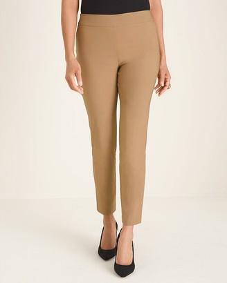 BRIGITTE Back-Slit Slim Ankle Pants