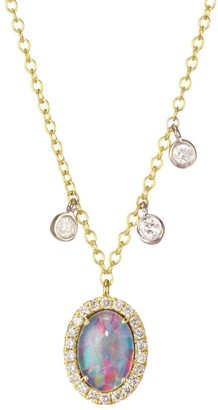 Meira T 14K Yellow Gold & Diamond Triplet Necklace