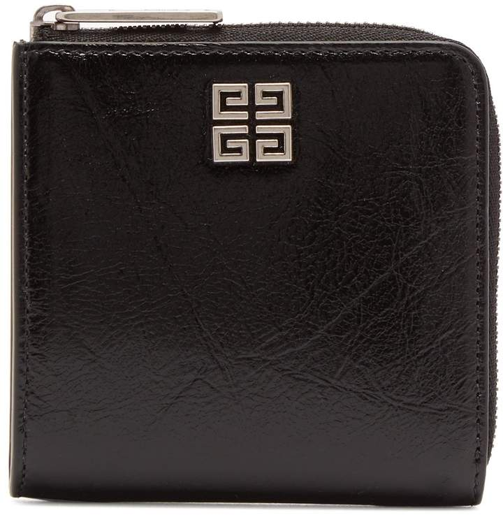 Givenchy Logo-embellished zip-fastening leather coin purse