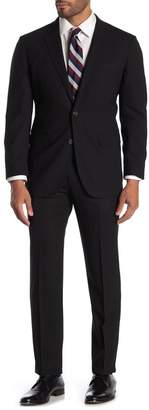 Brooks Brothers Black Solid Two Button Notch Lapel Wool Milano Fit Suit