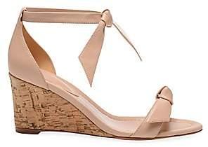 Alexandre Birman Women's Clarita Bow Leather Wedge Sandals