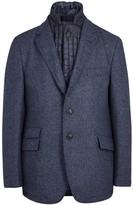 Corneliani Blue Wool Blend Jacket