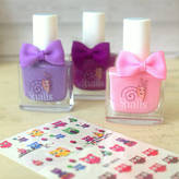 Little Ella James Childrens' Nail Polish And Nail Sticker Set