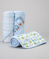 SpaSilk Blue Train Hooded Towel Set