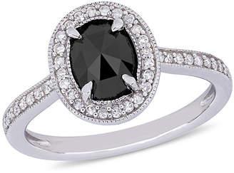 Black Diamond MODERN BRIDE Midnight Black Womens 1 1/6 CT. T.W. Genuine 10K White Gold Engagement Ring