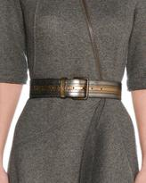 Tomas Maier Aged Metallic Leather Belt