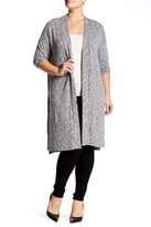 Bobeau Long Heather Cardigan (Plus Size)