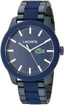 Lacoste Men's 2010922 Casual Lacoste.12.12 Pinnacle Matte Grey Dial Watch