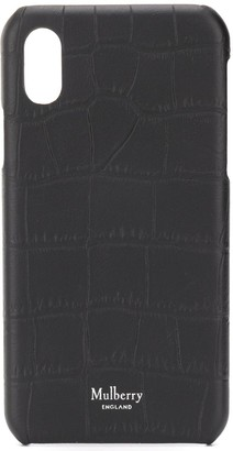 Mulberry crocodile-effect iPhone X cover