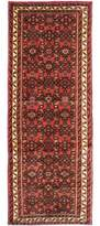 "Ecarpetgallery One-of-a-Kind Hosseinabad Hand-Knotted Runner 2'3"" x 6'2"" Wool Red/Beige Area Rug"