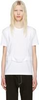 Comme des Garcons White Single Harness T-shirt