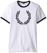 Fred Perry Mens Laurel Wreath Ringer T-Shirt