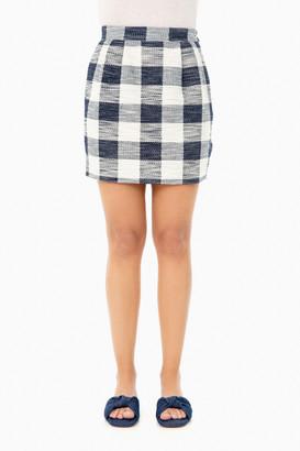 Roseanna Marine Gingham Skirt