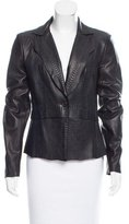 Elie Tahari Leather Notch-lapel Jacket