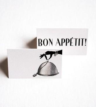 Eighty Seventh St Bon Appetit! Place Cards