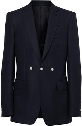 Burberry English Fit Triple Stud Wool Mohair Tailored Jacket
