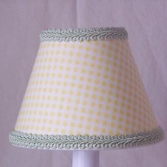 "Gingham 5"" Fabric Empire Candelabra Shade Silly Bear Lighting"