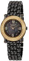 Stuhrling Original Women's 9955.12M927 Vogue Audrey Grace Ceramic Quartz Genuine Diamond Mother-Of-Pearl Date Watch