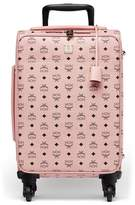 "MCM Small Voyager Visetos 22"" Trolley Wheeled Suitcase - Pink"