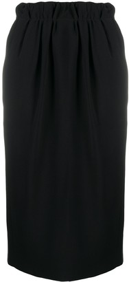 No.21 Elasticated High-Waist Midi Skirt
