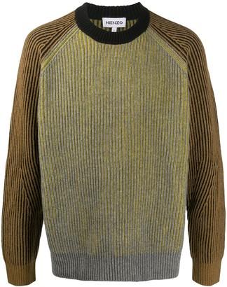 Kenzo Rib-Knit Wool Jumper
