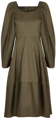Eudon Choi Anni Army Green Cotton Dress