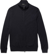 Ermenegildo Zegna Merino Wool Zip-Up Sweater