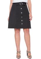 ELOQUII Plus Size Button Up A-line Skirt
