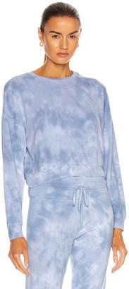 Beyond Yoga Garment Dye Day to Day Pullover in Blue Dream & Gray Cloud Dye | FWRD