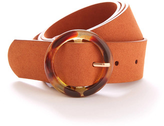 Fantas-Eyes Tortoise Circle Belt Tan S