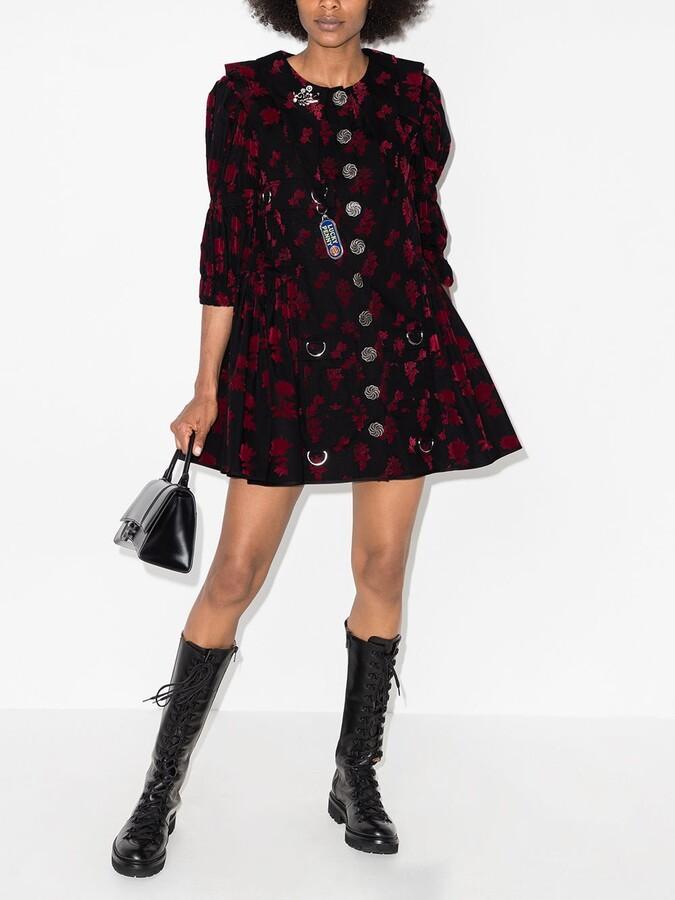 Thumbnail for your product : Chopova Lowena Floral-Print Flared Mini Dress