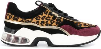 Karl Lagerfeld Paris platform leopard print sneakers