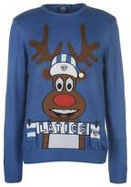 Team Mens Oldham Athletic Christmas Jumper Sweater Pullover Long Sleeve Crew